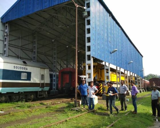 Drone demonstration to Indian railway